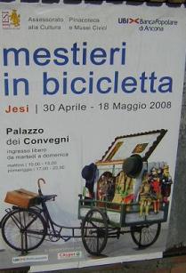 Locandina Jesi Mestieri in bici