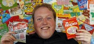 Dave valentin, collezionista di confezioni ed etichette di chips