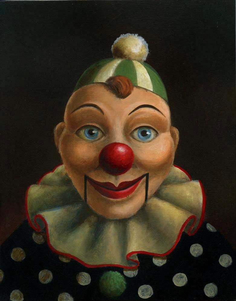 Clown Print, Ventriloquist Dummy Portrait, Clown Puppet, Ventriloquist Puppet, Pop Surrealism, Unusual Art, de CuriousPortraits