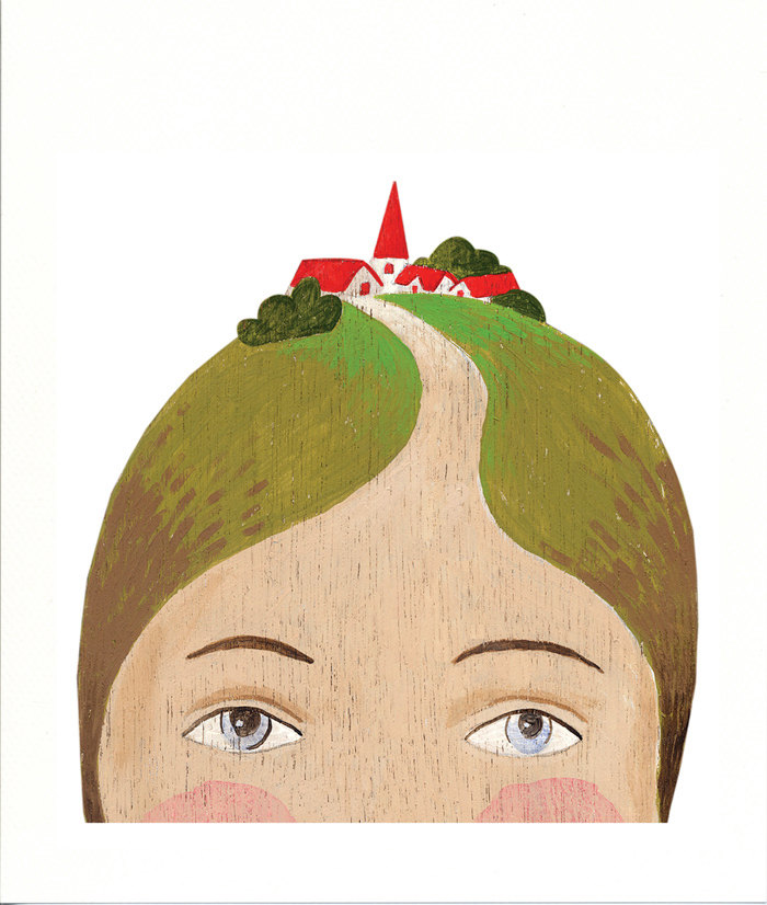 Fine art print - Lady with Village on her Head de SandraEterovic