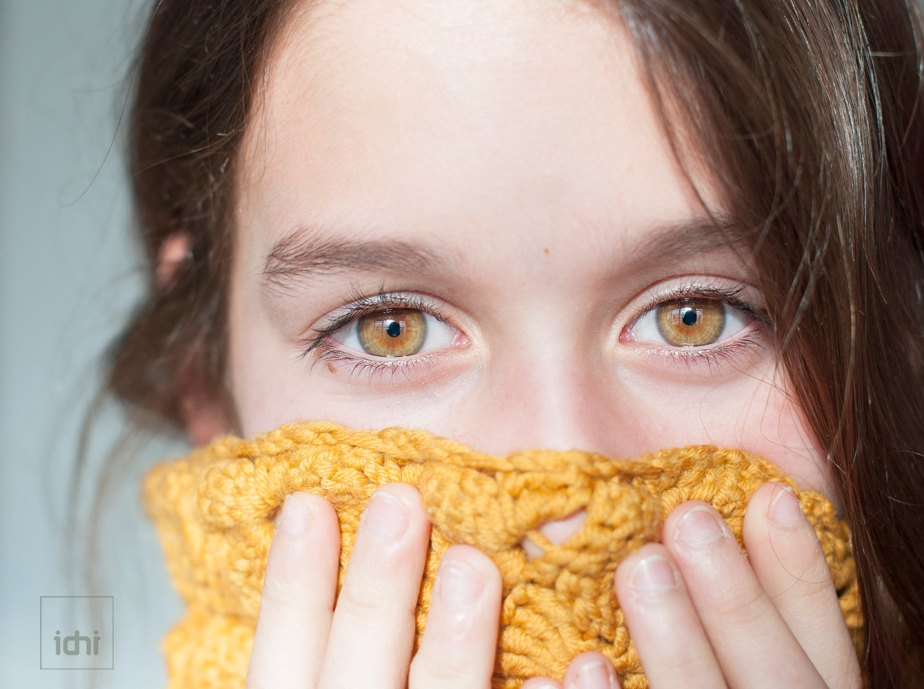 Kids Cowl · Chunky Crochet Cowl for Kids · Children's Scarf in hand crocheted · Mustard merino wool de idniama