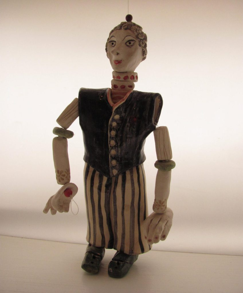 The CirCuS mAn------- Ceramic Marionette---Holiday gift de AnnaLela