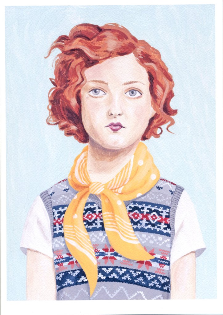 Fine art print -- Girl Wearing Fair Isle Vest de Sandra Eterovic