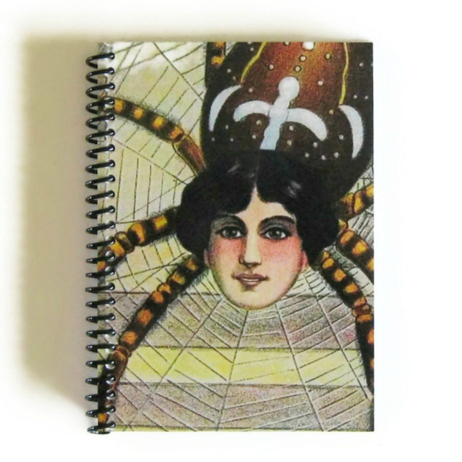 Spider Woman, Spiral Notebook, Vintage Circus, 4x6 Inches Notebook, Diary Journal, Blank Sketchbook, Writing Journal, Cute Notebook de ciaffi