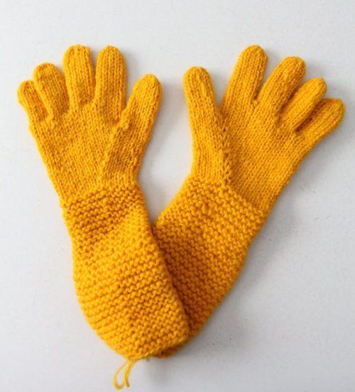 vintage hand knit gloves de 86Vintage86