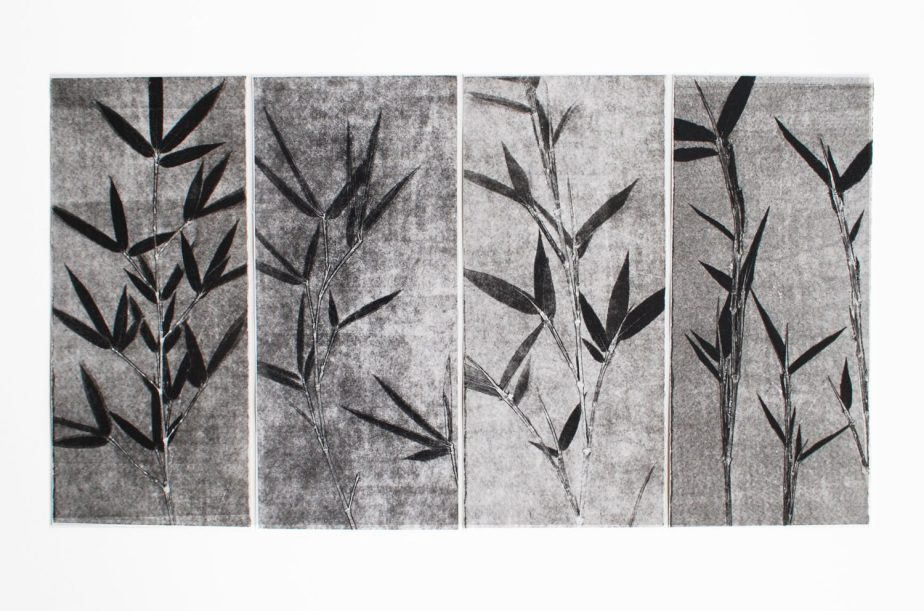Modern Art, Contemporary Art, Original Etching, Bamboo Zen Design de 88editions