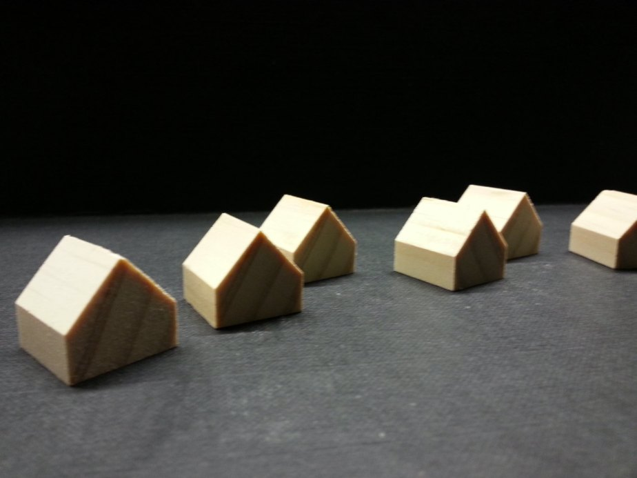 8 miniature wooden houses . pine wood houses . little houses . little wooden houses. miniature houses . little cottages . doll house decor de GTDesigns