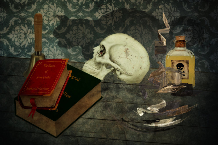 Bell, Book, and Candle, Photo Art, Halloween de ThePhotoImpression