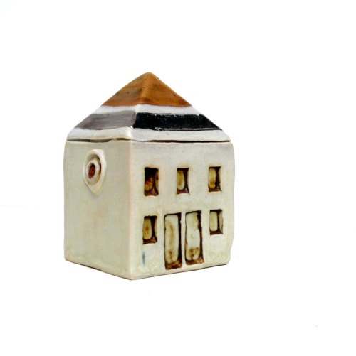 Miniature Architecture, Gold And Silver House, Neutral Decor , Townhouse de BlueMagpieDesign