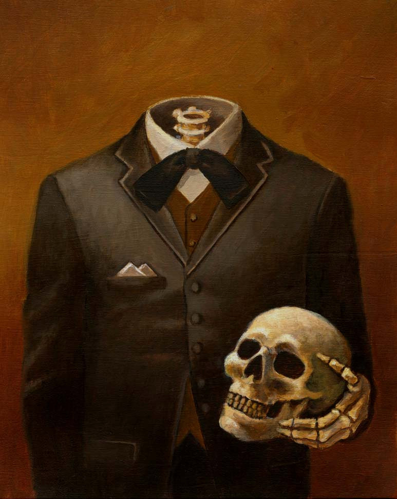 Skeleton Portrait Print - Headless - Skull Print - Victorian - Gothic - Steampunk de CuriousPortraits