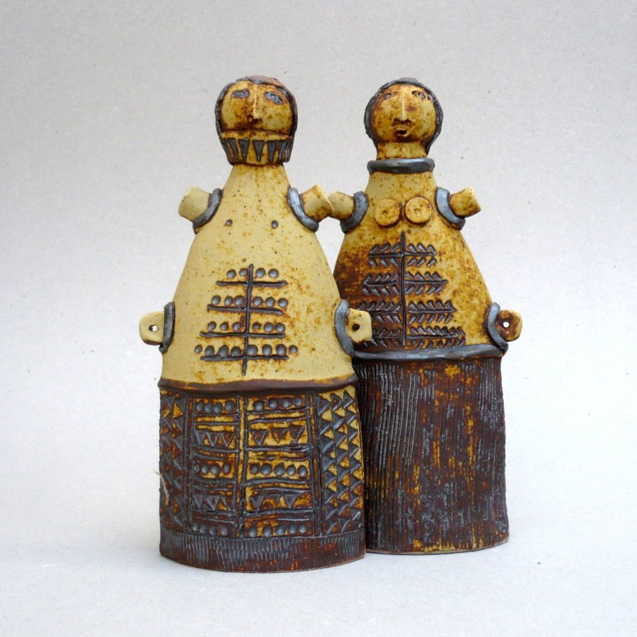 "Ceramic Sculpture ,Primitive Art , ""Cycladic Couple"" , Mediterranean , Tribal Art de BlueMagpieDesign"