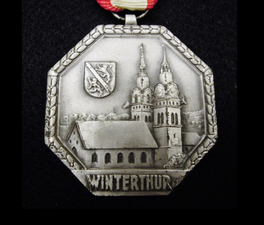 Swiss sports medal - Winterthur - 1969 - Switzerland - 47th birthday gift - 47 years anniversary present - vintage de VintArtStore