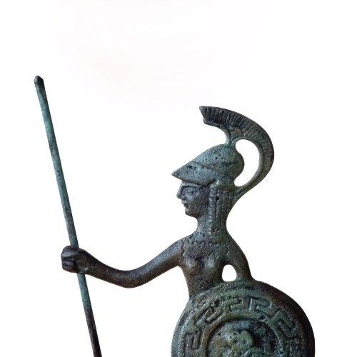 Greek Goddess, Greek Key Verdigris Goddess Statue Athena, Bronze Sculpture, Greek Mythology, Ancient Greece, Metal Sculpture, Museum Replica de GreekMythos