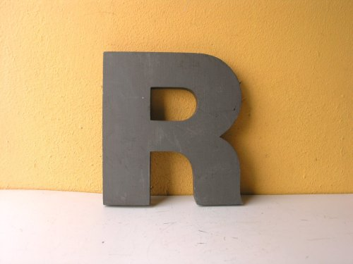 8x7 Metal Letter, Capital Letter R, Salvage Sign Letter, Advertising Decor, Cast Aluminum Letter, Industrial Letter, Monogram R, Kids Decor de IndustrialHabitat