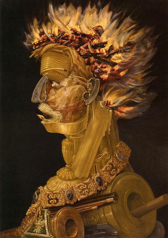 Giuseppe Arcimboldo: The Fire. Fine Art Print/Poster (002637) de ExquisiteArtz