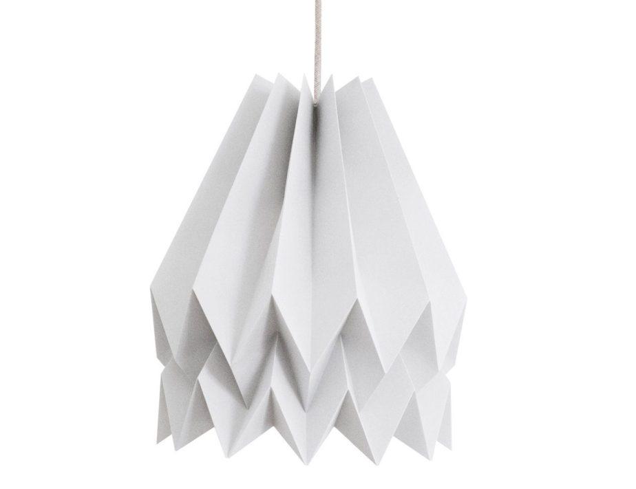 Origami Lamp | Plain Light Grey | Orikomi Design | FREE SHIPPING de orikomi