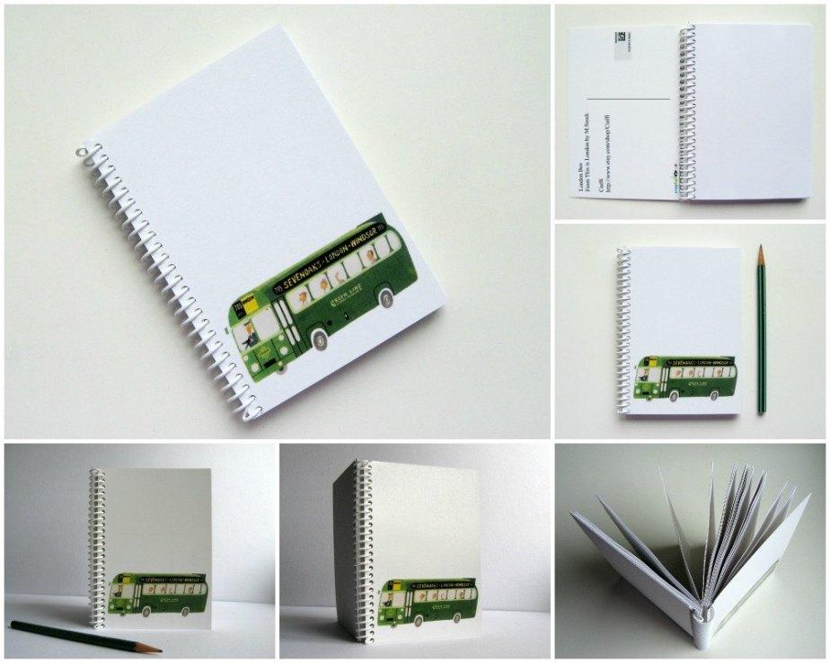 Green Bus, Travel Journal, Writing Journal, Back to School, Mid Century Modern, Gifts Under 15, Blank Sketchbook, Small Notebook de ciaffi