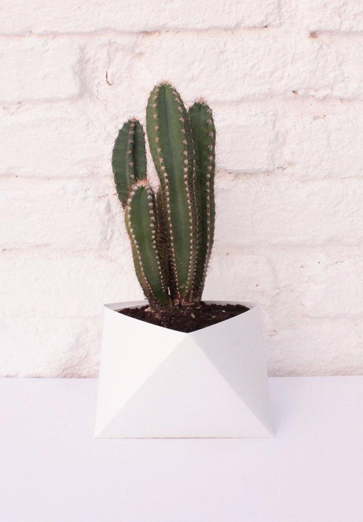 3box XL White Planter -Origami Box, Origami Planter, Flower Pot, Plastic Planter, Geometric Planter, Geometric Terrarium de KingKongDesignShop