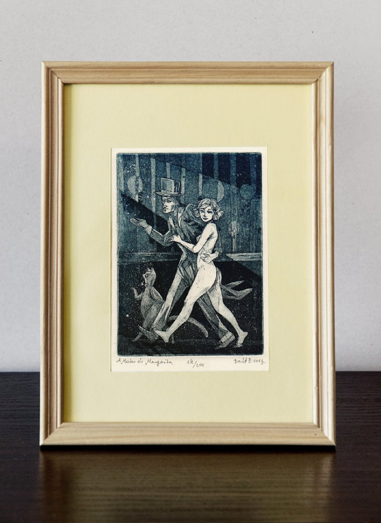 Master and Margarita - Illustration | original etching print de BarbaraBernat
