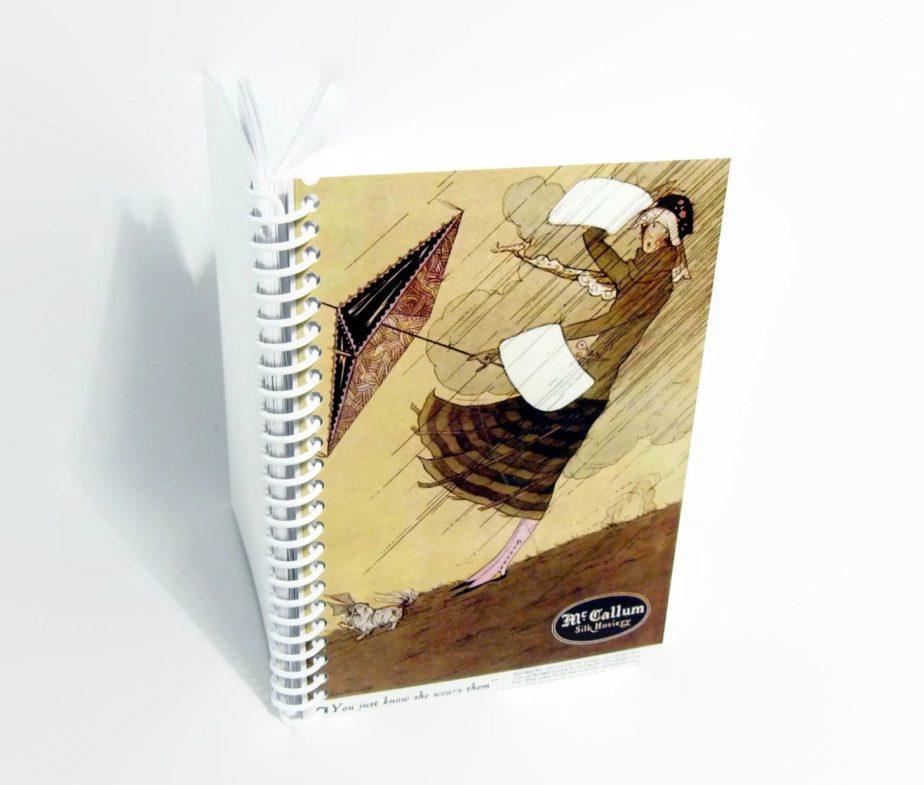 Wind and Rain, Pocket Notebook, Writing Journal, Blank Sketchbook, A6 Notebook, Back to School, Spiral Bound Journal, Diary Journal de ciaffi