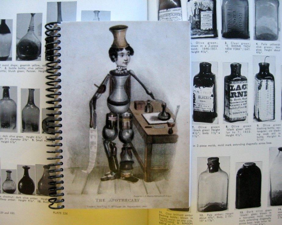 Apothecary Journal, Pocket Notebook, Blank Sketchbook, Writing Journal, Spiral Notebook, Antique Pharmacy, A6 Notebook, Spiral Bound Journal de ciaffi