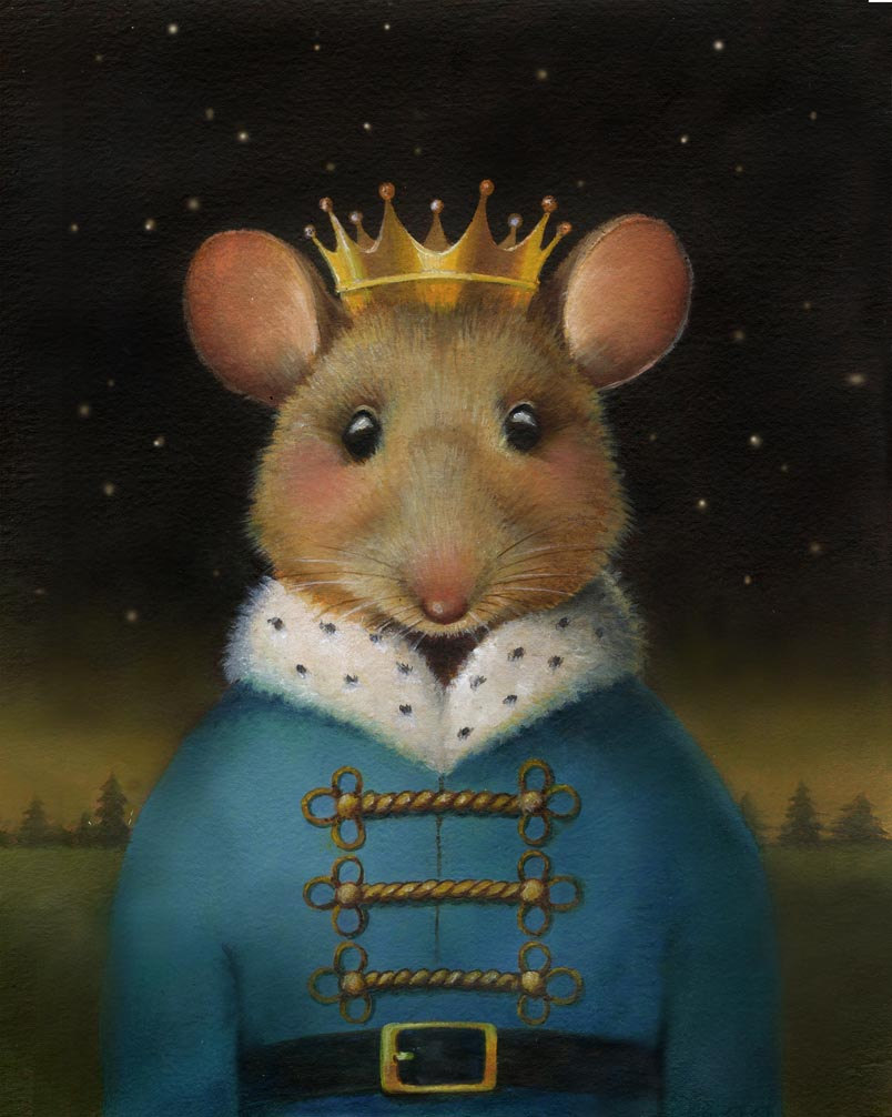 Mouse Portrait Print - Mouse King - Nutcracker Print - Christmas Mouse Portrait - Mouse Art - Mouse Lover's Gift - Animal Lover Gift de CuriousPortraits