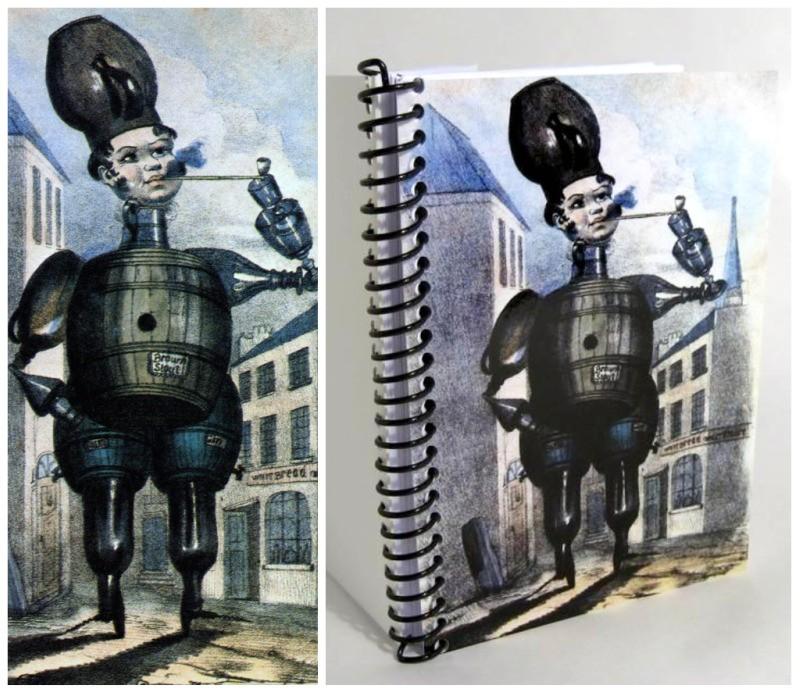Barrel Man, A6, Notebook, 4x6, Writing Journal, Pocket Journal, Sketchbook, Diary Journal, Blank Notebook, Paper Notebook, Cute Notebook de ciaffi