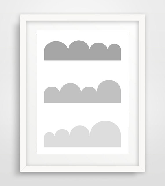 Digital Download,Geometric art print, hill abstract,abstract clouds,scandinavian print, modern, grey ,loft,house,hotel,kitchen,indian de Digitallab