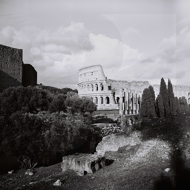 Colosseum, Rome, Analog Art Photography, Black and White Roma, Colosseo, Noir, Monochrome, Italia, Travel Art Photo, Home Decor, Europe de BankoFineArt