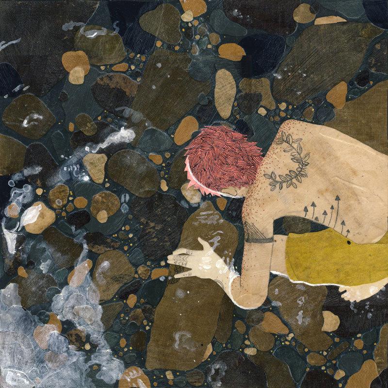 The Backwoods Happening - Giclee Art Print - 12x12 de HollieChastainArt