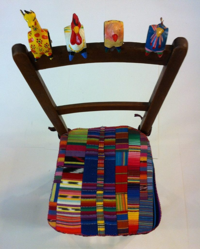 Little Mexican Napkin Ring Chair by JABneedlecrafts