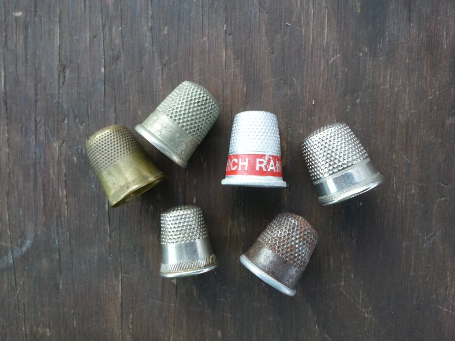 vintage thimbles . instant collection of thimbles . sterling silver thimble . silver thimbles . sewing thimbles