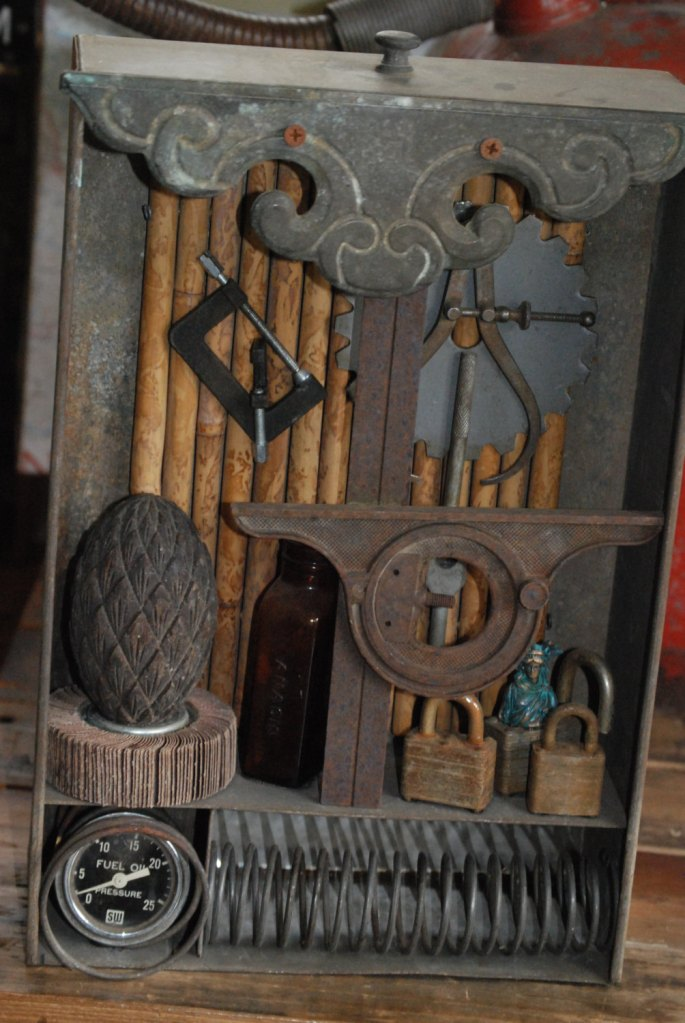 Assemblage Art Display, Vintage Items