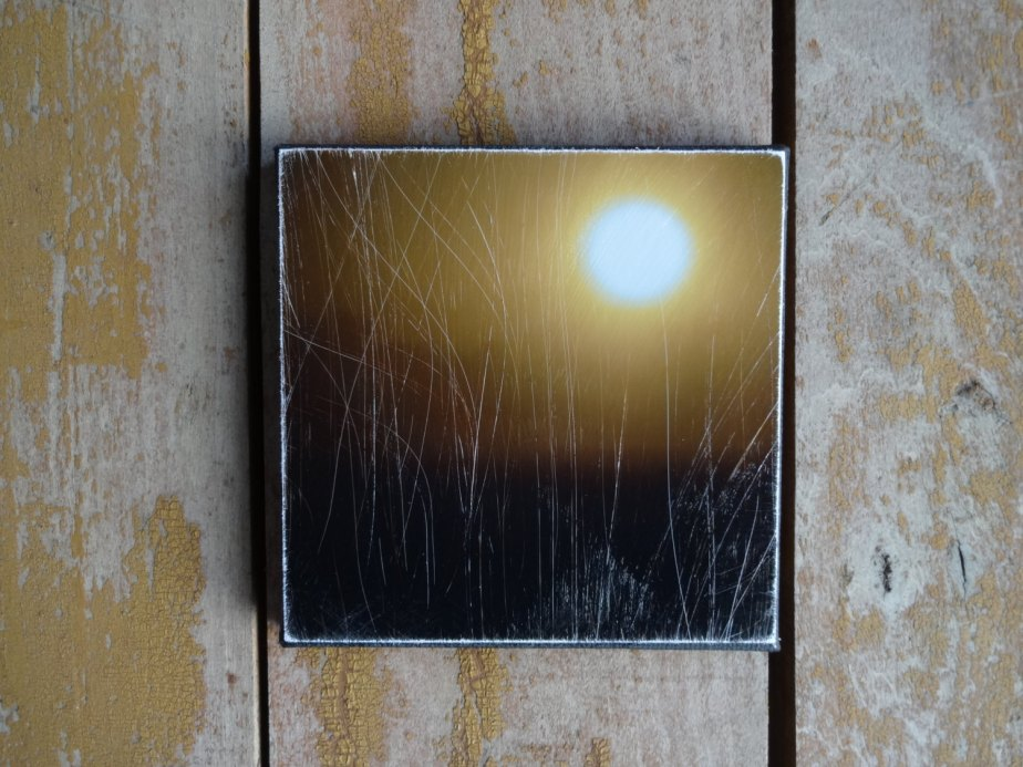 Solar. Miniature, Small, Tiny Art, Yellow Sun, Photography, Moody Art, Dark, Fog, Reflective, Meditative, Minimalist, Sunrise, Rustic Decor by EcclesiastesOneTen