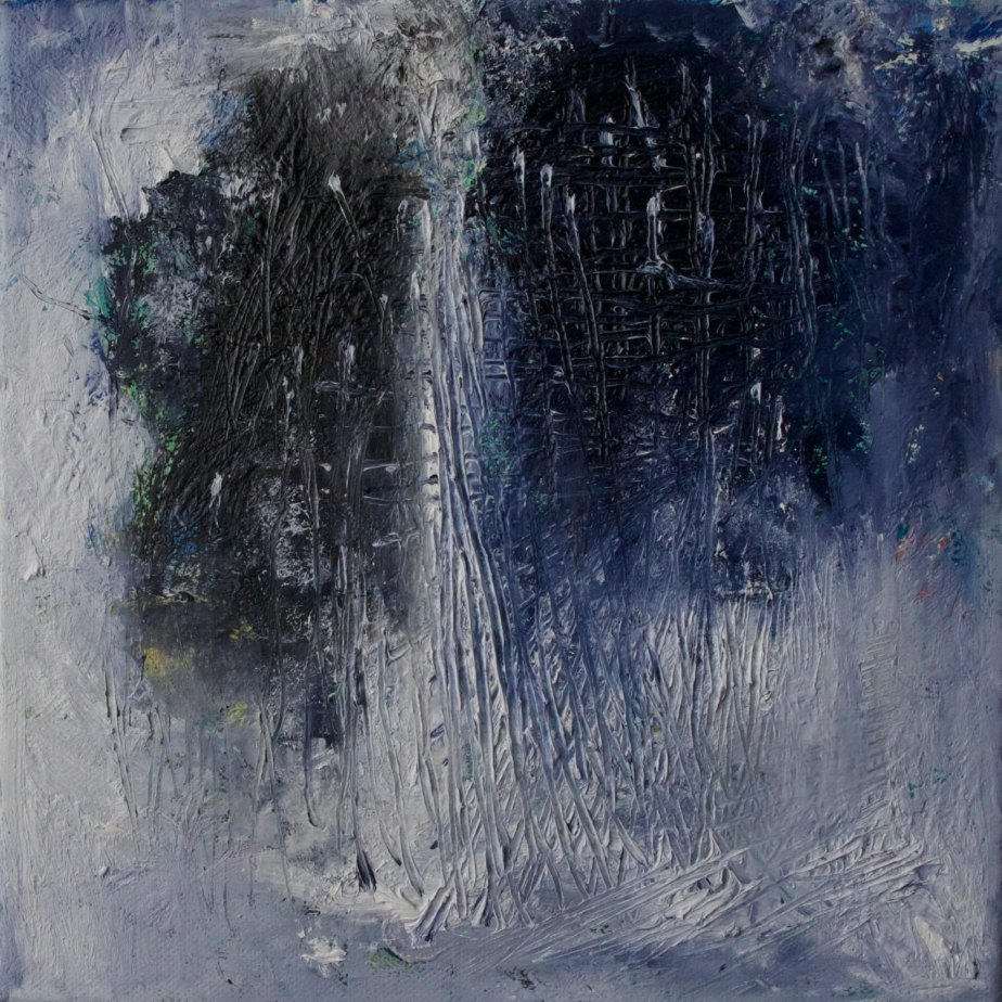 "Abstract Art, Oil Painting, Original abstract oil painting, 10 x 10 x 1/2 "" on stretched canvas by Romany Steele. Departing Winter Spirits by RomanySteelePainting"