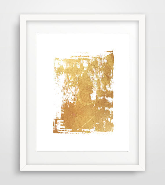 Abstract Wall Art, Gold Abstract print, Gold wall print, Home Decor Wall Art, Minimalist Poster, Living Room Decor, Scandinavian Art by Ikonolexi