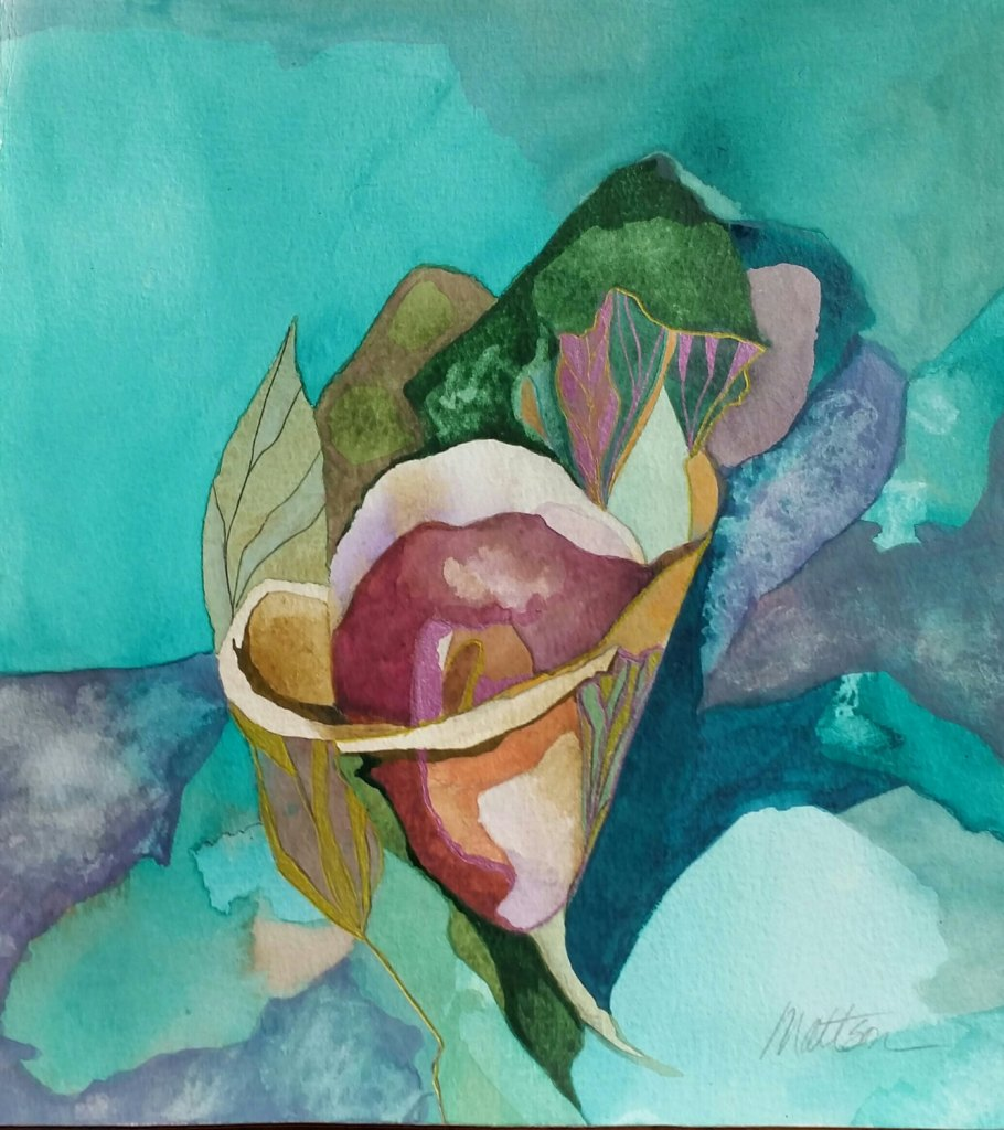 "Fall Series "" Calla Fantasy"" original one of a kind watercolor by paulamattson"