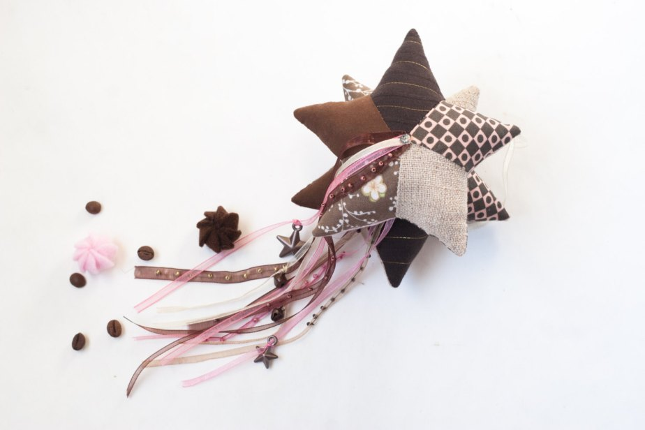 Christmas star sachet with lavender or coffee Home decor party favors Personalized patchwork handmade star Christmas by UnderUmbrelland