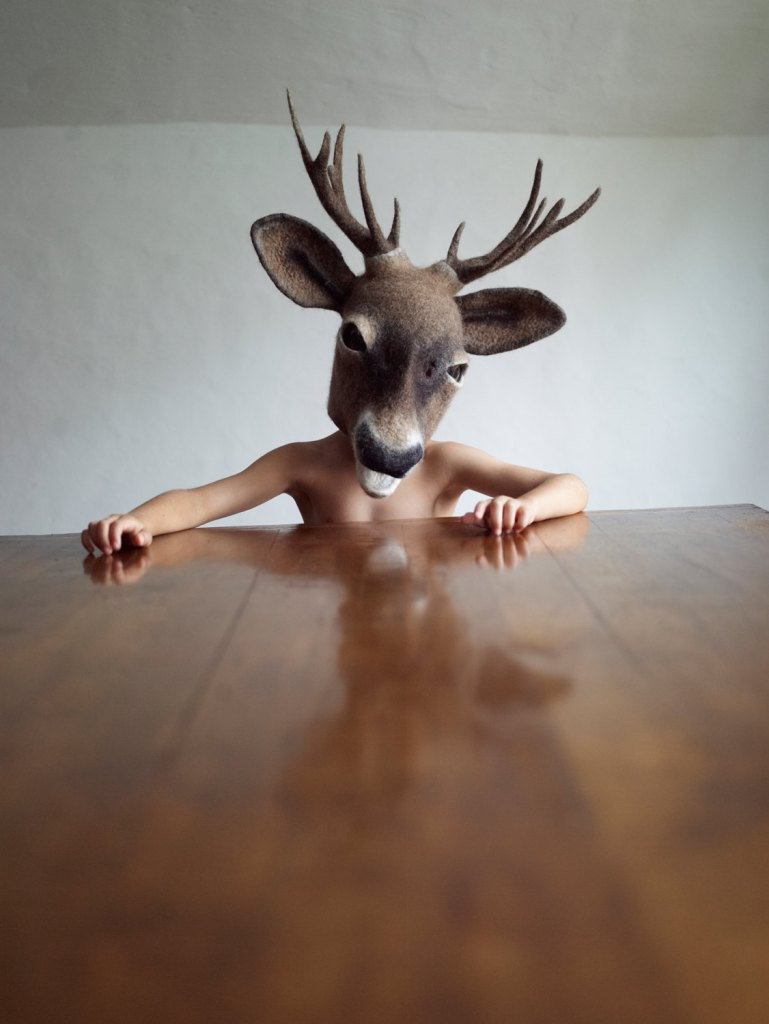 MADE TO ORDER: Hand felted 'Young Buck' headdress by gladyspaulus