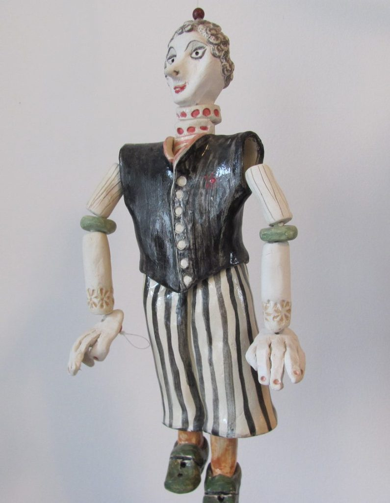 The CirCuS mAn------- Ceramic Marionette---Holiday gift by AnnaLela