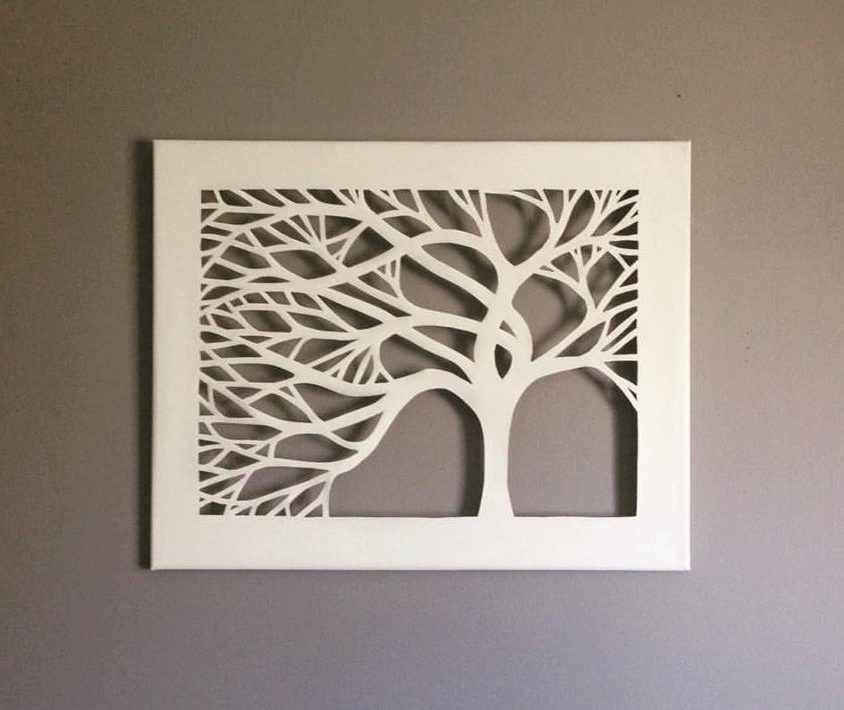 Canvas Cut Tree by DzignCustomArt