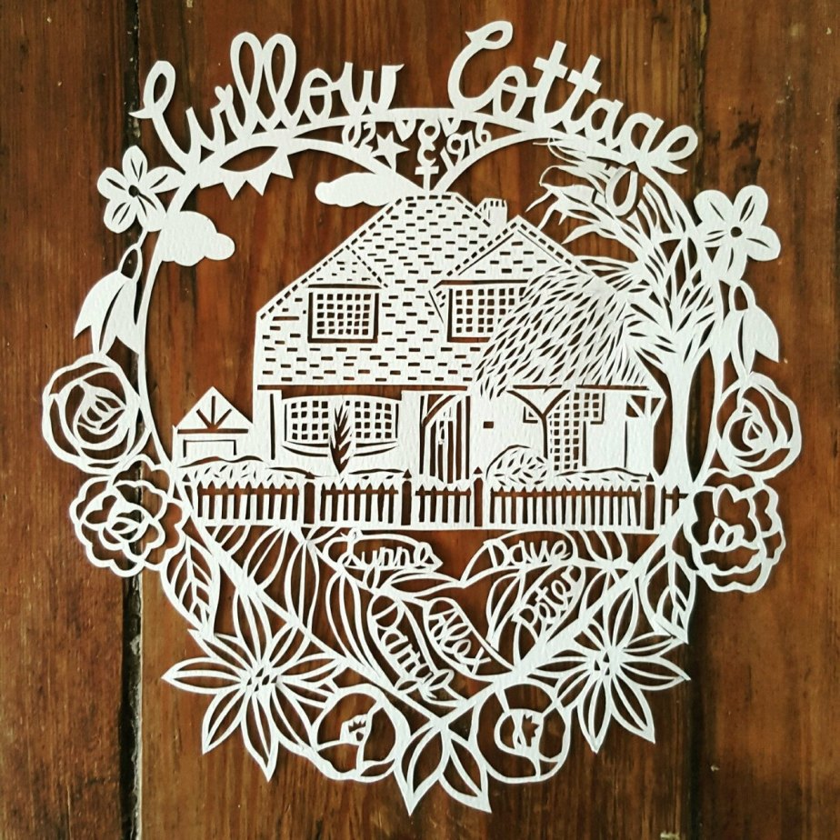 Personalised House Paper cut Portrait, House Portrait, House Paper cut, Custom House Gift, Custom House Paper cut by MissBespokePapercuts